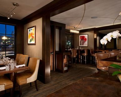 Decorative granite countertops and the plastered ceiling were all provided by Granicrete Minnesota. The 15 Church restaurant located in Saratoga, NY was looking for a comforting, stimulating, and high-end renovation to this building.