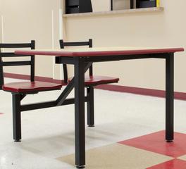 2 Seat Table Plymold Bakery Employee Lounge New Jersey