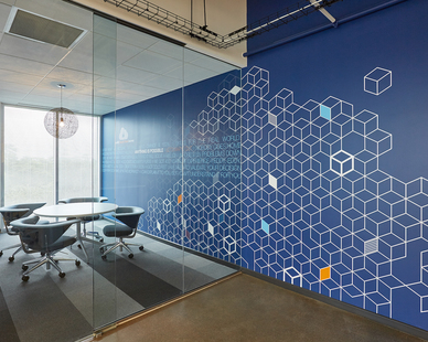 Interior of RBC Wealth Management Innovation Lab located in Orlando, FL.