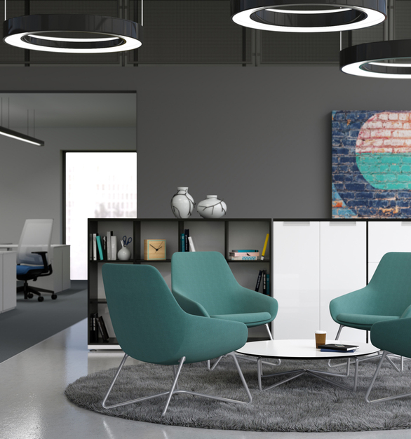 The Lilly lounge and side models have a roomy back, curved arms, and a soft yet supportive seat. Whether you need to collaborate with co-workers, get some work done, or relax while taking a break, Lilly can meet all your needs and more.
