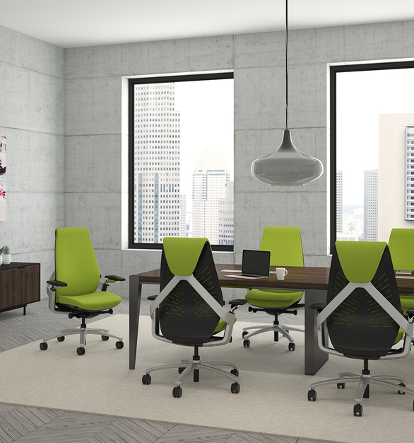 Today's workplace is flexible and agile. So is Sol. Comfortably accommodating your sitting—and work—style, thanks to a synchro mechanism, a seat slider, adjustable arms, and height-adjustable lumbar, Sol encourages movement for alertness and a healthy posture shadows your every move.