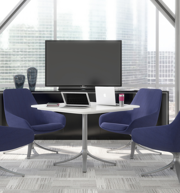 At first glance, it's easy to see the elegantly sophisticated design lines and shapes of Lilly. Lilly is a well-crafted beauty with a warm embrace that allows her to enter any work or public space with grace. The Lilly collection consisting of lounge, side, and stool models can impact and empower the way people work together.