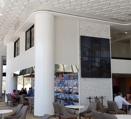 Above View Inc Garza Blanca Hotel Lobby Cloverleaf Flat Center Ceiling Tile Design