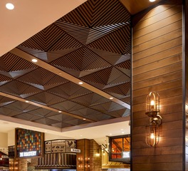 Above View Inc Palms Casino Buffet Grooved Quarter Pyramid Ceiling Tile Design