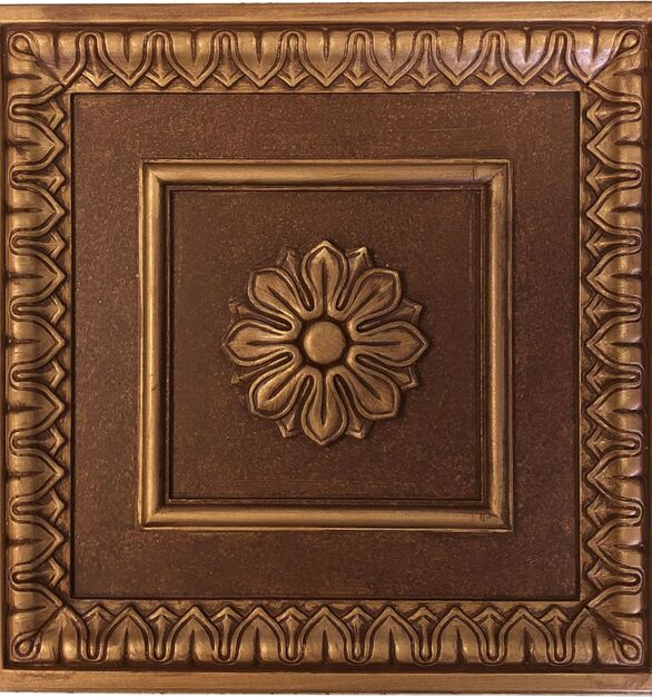 An elegant traditional ceiling tile design, this tile graces the ceilings of fine homes and historic buildings throughout the country