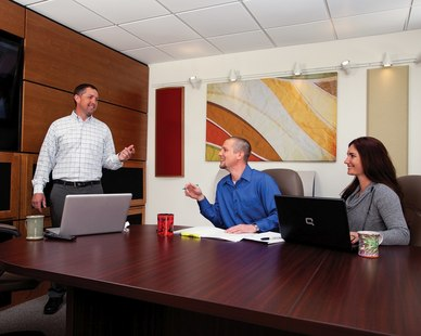 Acoustic Geometry's products are perfect for an office conference room. Innovative and completely affordable.