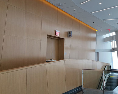 With uncompromised aesthetics, you never have to sacrifice form over function with Microperf Acousticore perforated wood acoustic panels. The acoustic wood wall and ceiling panels provide exceptional acoustic performance in tandem with pleasing design features.