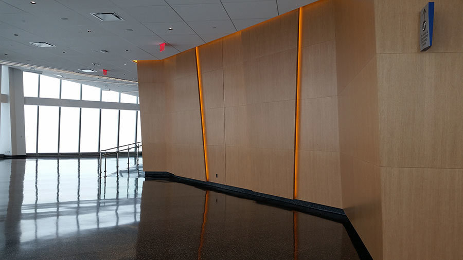 Microperf Acousticore acoustic wood wall and ceiling panels are intended to pair seamlessly with your existing or planned designs, making them an easy fit for any room.