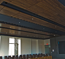 Acoustical surfaces Woodgrille Acoustic Ceiling