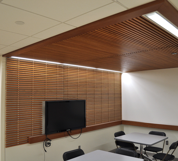 Grille Ceiling provided by ASI Architectural, a brand of Acoustical Surfaces.