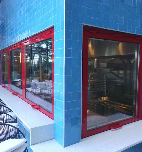 ActivWall was able to customize the color of the Gas Strut Windows to match the Virgin red color.