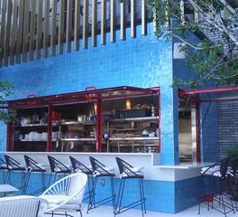 Activwall Virgin Hotel dallas exterior bar open windows