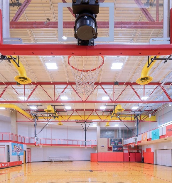Centenary United Methodist Church Gymnasium is located within the United Methodist Church in Lexington, KY featuring lighting products by Acuity Brands - Lithonia Lighting®. Project in collaboration with Acuity Brands agent LHI Lighting Sales.  Photographer: Jeff Rogers Photography