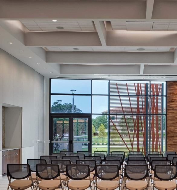 Center for Health and Wellbeing is a state-of-the-art, unique healthy living center located in Winter Park, Florida, featuring lighting products from Acuity Brands - Gotham® Lighting. Project in collaboration with Duda|Paine Architects & Cline Bettridge Bernstein Lighting Design, and Acuity Brands agent Landreth Lighting & NY Digital.