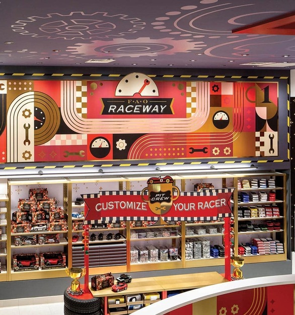 FAO Schwarz is an American toy brand and store headquartered in New York, NY, featuring lighting products from Acuity Brands - Gotham® Lighting, Juno®, and Aculux®. Project in collaboration with 37 Volts and Acuity Brands agent NY Digital.