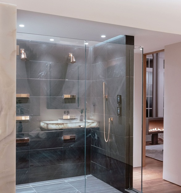 This private residence features lighting products from Acuity Brands - Aculux®. Project in collaboration with Harrison Design, and Acuity Brands agent Smart Lighting Solutions.  Photographyby:Rob Whaley