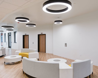 Utah State University - Sorenson Legacy Foundation Clinical Center located in Logan, Utah features lighting products from Acuity Brands - Juno®, Winona® Lighting, and Lithonia Lighting®. Project in collaboration with Envision and Acuity Brands agent JRC. 