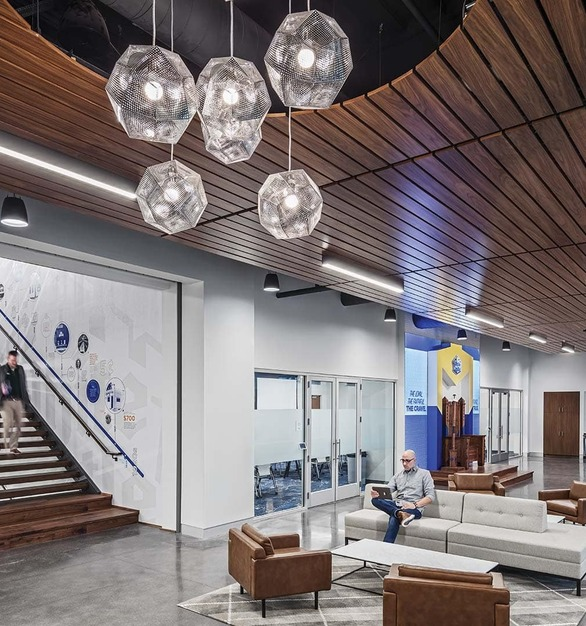 White Castle Headquarters, a fast-food chain known for serving its signature beef, chicken & fish sliders, is located in Columbus, Ohio, featuring lighting products from Acuity Brands - Mark Architectural Lighting™. Project in collaboration with M + A Architects and Acuity Brands agent Lighting Systems of Columbus.