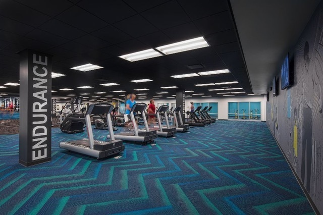 Cordeck In Floor Cellular Raceway System was also chosen to be incorporated within Acuity's designated fitness area.   Our system allows flexible layouts, and provides a trouble-free when it comes to repositioning heavy equipment.  Photo courtesy of: Acuity Insurance Headquarters