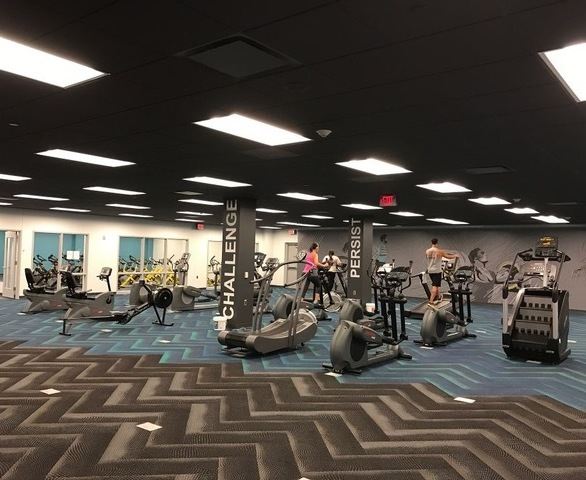 Cordeck In Floor Cellular Raceway System was also chosen to be incorporated within Acuity's designated fitness area. 