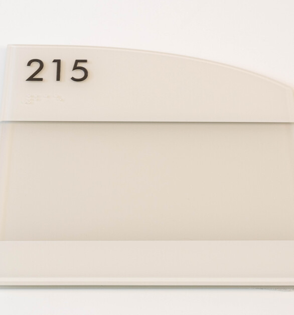 Glacier sign line message insert room ID signage by Welch Sign.