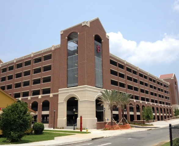 FSU's delightfully constructed parking garage featuring thin brick by Advanced Formliners.