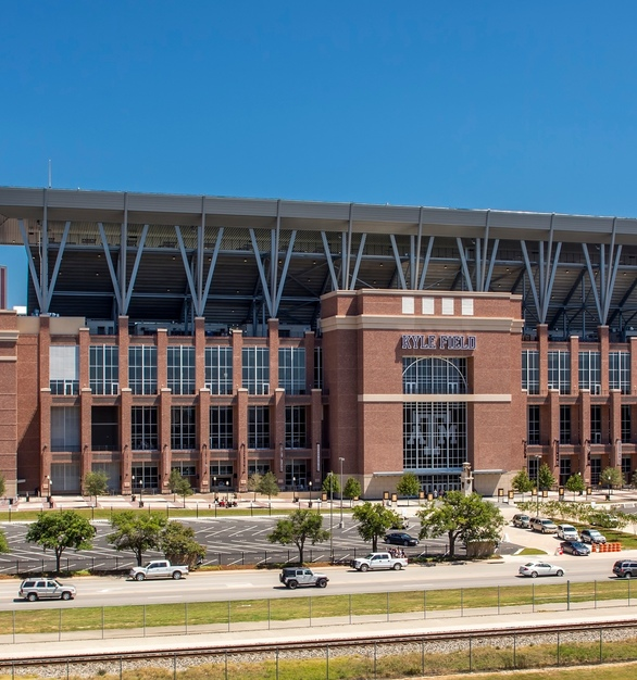 Texas A&M's Kyle Field including the tasteful character that Advanced Formliners thin brick system provides.