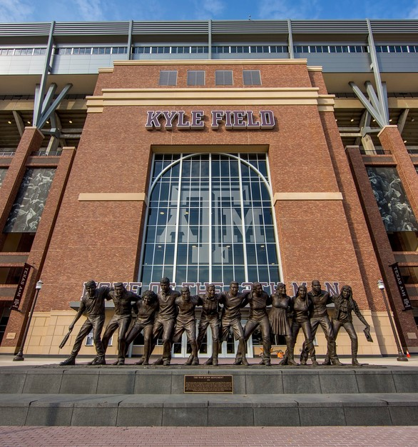 Advanced Formliners was trusted to bring the character of brick using our thin brick system to Texas A&M's Kyle Field.