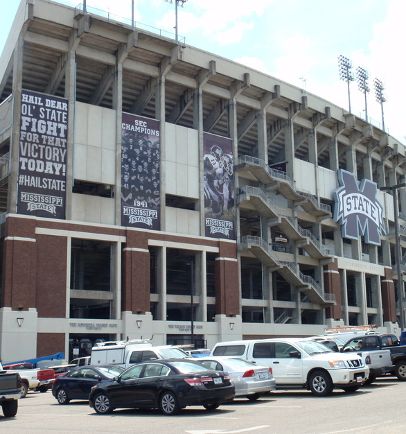 Mississippi State's Davis Wade Stadium including the tasteful character that Advanced Formliners thin brick system provides.