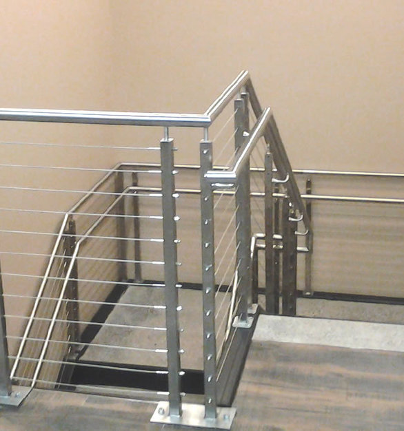 AGS stainless steel cable railing systems provide an attractive, high-end option  for any office space.