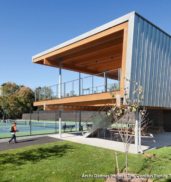 The Cordish Family Pavilion used Rainier cable railing system which is sleek, sophisticated and offers a contemporary style.