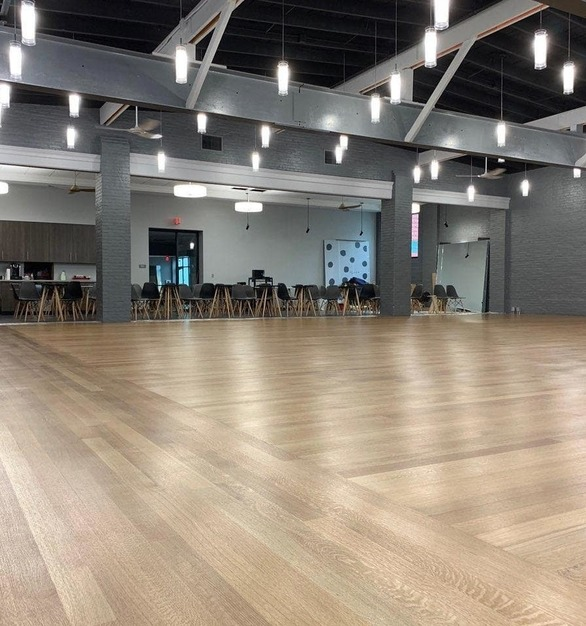 The Arthur Murray Dance Studio in Lemoyne, Pennsylvania, features stunning Northern Appalachian White Oak flooring.