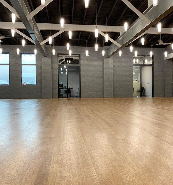Beautiful Northern Appalachian white oak flooring can be found throughout the Arthur Murray Dance Studio in Lemoyne, Pennsylvania.