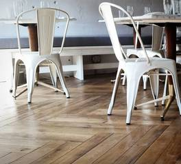 Allegheny Mountain hardwood flooring WO LS millrun herringbone Pgh Vandal cafe flooring close up