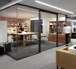 Allsteel Aspect Frameless Glass Office Space Design