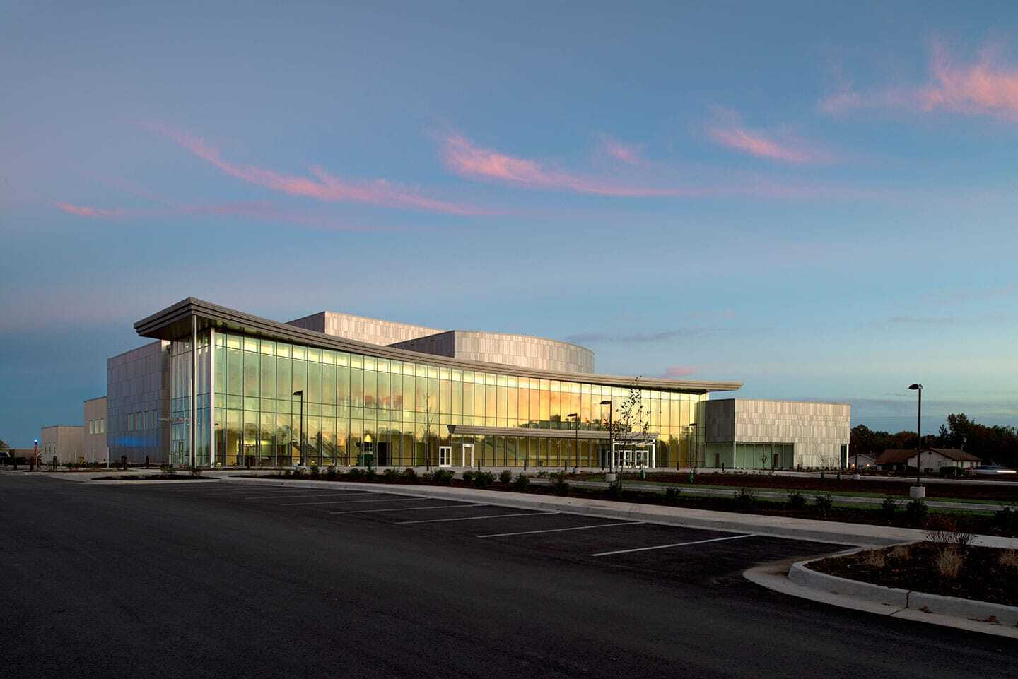 Dri-Design Painted Aluminum Panels offer the ultimate design flexibility for exterior and interior applications. Panels are painted using industry leading Fluoropolymer based paints for long lasting finish durability, while our finishers use a 100% air capture system to destroy the VOCs produced, so there is no adverse environmental impact.