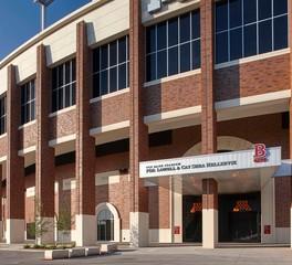 American artstone u of m TCF Bank stadium cast stone exterior 3