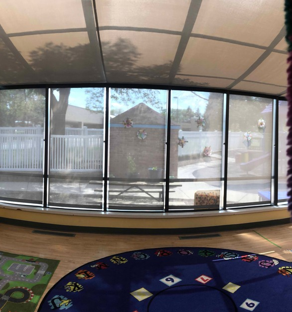 A sunroom at this school in St. Paul, Minnesota used American Drapery products to ensure control of direct sunlight on the children.
