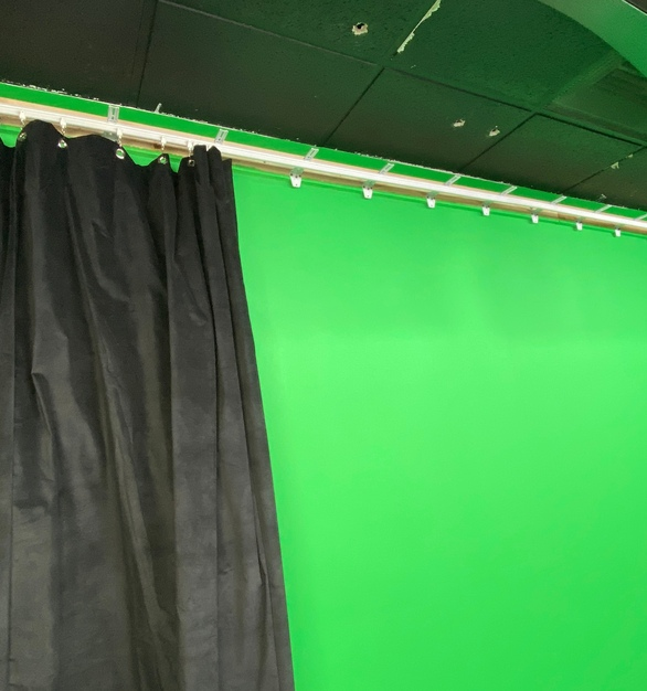 American Drapery Systems used American Track Supply's wall-mounted flexible curtain track for this education space.