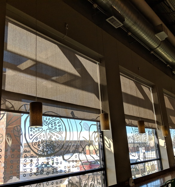 American Drapery provided its commercial shades to Whole Foods in Edina, Minnesota. It blocks just enough light to keep the space bright and comfortable.