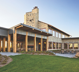 Andersen Windows and Doors Hazeltine National Golf Course Clubhouse Exterior Patio Design