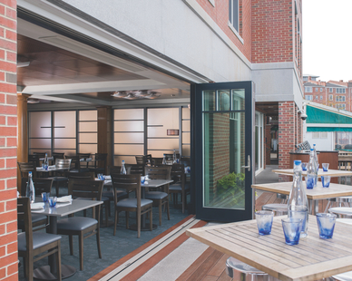 This mixed-use development property was fitted with various Andersen® fixtures including the slick Outswing Folding Doors.