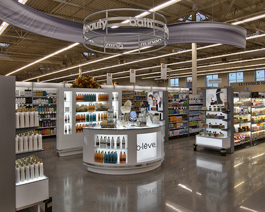 Beauty section located right inside the New Hope Hyvee.