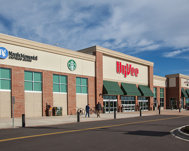 The new 92,000-square-foot store features a 65,000-square-foot grocery space encircled by a restaurant, deli, wine shop, bakery, and an extensive organic food section. Located in New Hope, MN, by Anderson Companies.