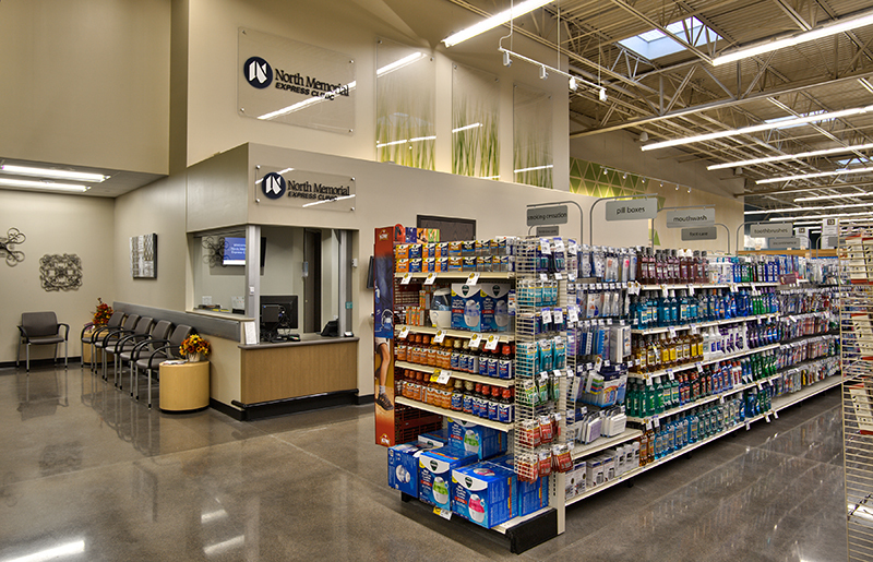HyVee in New Hope, MN has an Express Care Clinic located right in the grocery store for easy convenience.