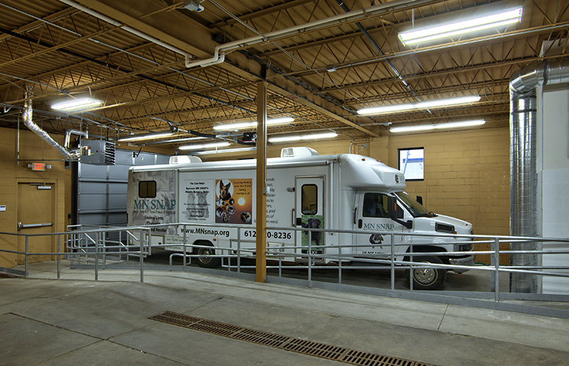MN SNAP's headquarters is located in North Minneapolis in an 11,800-square-foot building, featuring a surgery center, a space for their mobile surgery vehicle and offices for MN SNAP staff.
