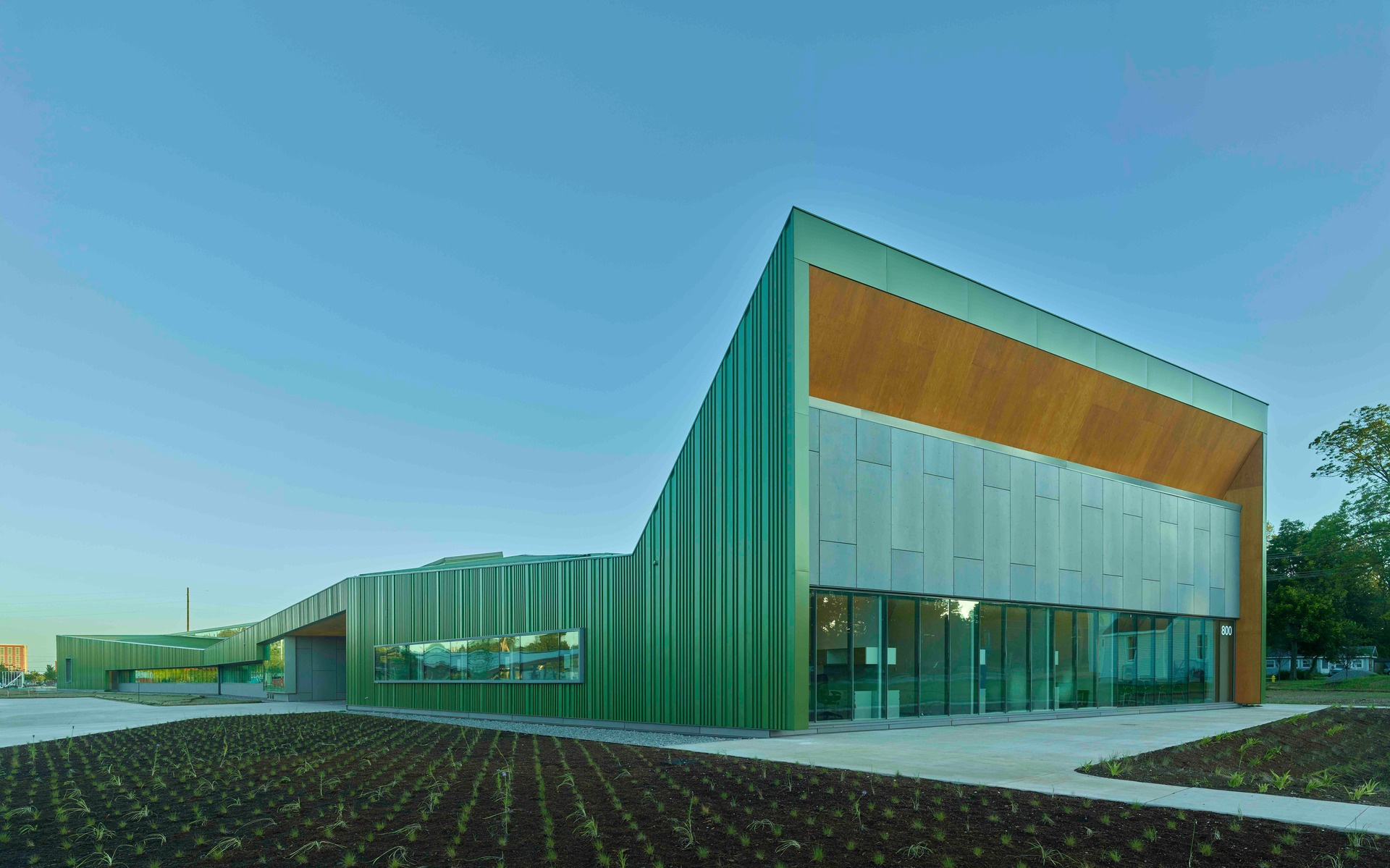 In Reels, a 37,970-square-foot building completed in 2019, narrative and visual communication come alive through the production of film and video. In Wheels, a 30,285-square-foot building completed in 2020, the fields of physics and mechanics are brought to life through the construction and use of bicycles and other wheeled machines.