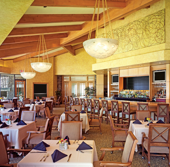 Beautiful bar at Anthem Country Club featuring Gasser Chairs.