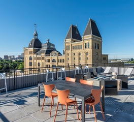 Apartment Building Rooftop Terrace Seating Tables Furniture