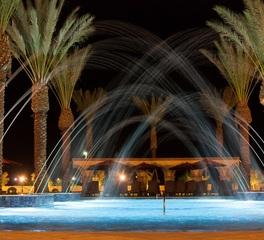 Aqua Design International Casino del Sol Tucson Arizona Exterior Water Feature and Palm Trees
